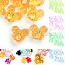 Acrylic Animal Spacer Beads Transparent Jewelry Crafts Pendant Necklace Bracelet
