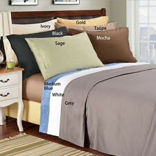 """Hotel Collection 400TC 100% Egyptian Cotton 6PC Sheet Set Solid 6"""" Deep Pocket"""