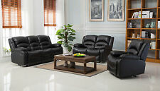 Wiltshire Valencia Leather Recliner Sofa Suites - Black or Brown