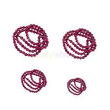 MagiDeal Pretty Ruby Jade Round Gemstone Spacer Loose Beads 15 Inch DIY Jewelry