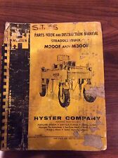 Vintage Hyster Parts Book and Instructiom Manual Straddle Truck M200F M300F