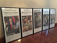 FRAMED CLEVELAND NEWSPAPER INDIANS, CAVALIERS, PRESIDENT TRUMP - YOU PICK!!