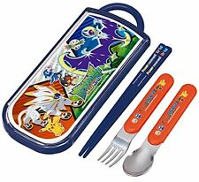 Trio set sliding chopsticks spoon fork set Pokemon Sun & Moon Pocket Monsters