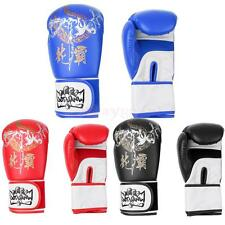 1 Pair Boxing Gloves Muay Thai Training Fighting Kickboxing Mitts Punch Bag