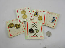 Vintage pinback pins buttons Military American Eagle Artillery Lot Unused.
