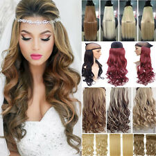 US New Clip In Hair Extensions 3/4 Full Head Extra Thick Black Blonde Brown P52