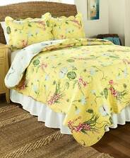 "SUNSHINE FLORAL QUILT & SHAMS REVERSIBLE KING 102"" X 86"" QUEEN / FULL 86"" SQ"