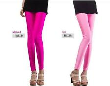 Disco Cute Footless Shiny Leggings High Waisted Candy Colors Pants