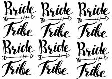 Set of 6 Bride Tribe iron on DIY vinyl t-shirt transfers Hen party wedding