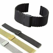 Luxury Stainless Steel Bracelet Strap Watch Mesh Replacement Band 18 20 22 24 mm
