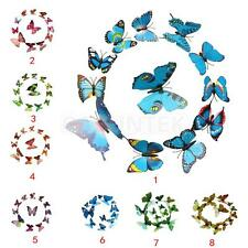 12 Pcs DIY Butterfly Decal 3D Wall Stickers Art Shop Holiday Decor