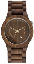 New WeWood Assunt Nut 100% Natural Wood Wooden Watch Walnut Date Window Unisex