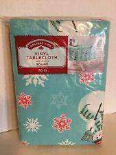 Holiday Time Vinyl Holiday Tablecloth 100% PEVA Front W/Non-Woven Back NWT