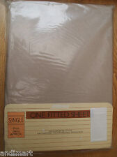1980s St. Michael Single Bed (91cm) - Fitted Sheet NOS - M&S - Brown - 850/0496A