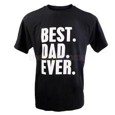 MagiDeal Funny Best Dad Ever Fathers Day Birthday Gift Mens Cotton T-shirt Black
