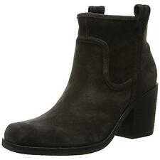 BELLE by Sigerson Morrison Womens Lagoon Suede Stacked Ankle Boots