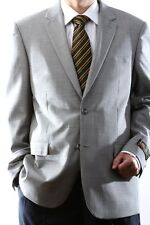 MENS SINGLE BREASTED TWO BUTTON WOOL RICH BLACK SPORT COAT, J46112S-115-BLK