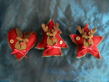 RETRO STYLE CHRISTMAS XMAS DECORATIONS - TREE OR FREE STANDING TABLE DECORATIONS