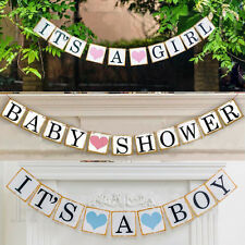 Its A Boy /Girl Baby Shower Party Bunting Garland Party Hanging Banner Decor **