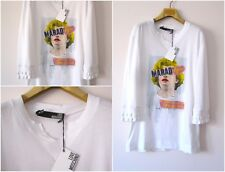 NWT AUTHENTIC LOVE MOSCHINO WOMEN'S WHITE MARILYN PRINTED TEE SHIRT Sz-M, L