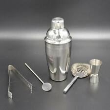 5 Piece Stainless Steel Cocktail Shaker Set Cocktail Drinks Bar Set Jigger Tong