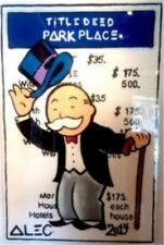 Alec Monopoly-NO.43 Handcraft Portrait Oil Painting on Canvas Painting 24x36inch
