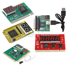 New 2 4 Digit 3 in1 PCI/PCI-E PC Analyzer Analysis Diagnostic Card USB POST Card
