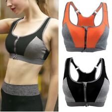 Womens Seamless Sports Bra Wire Free Yoga Fitness Comfort Stretch Bras Shapewear