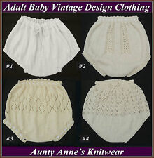 Adult Baby Hand Knitted Vintage Design Diaper / Nappy Covers