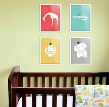 Canvas Print Wall Art Animal Kings - 4 Designs 8x10 Baby Nursery Picture