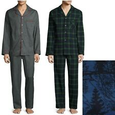 Stafford Mens Flannel Pajama Set Long Sleeves 2 piece Cotton sizes L, XXL NEW