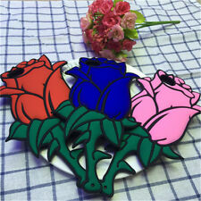 1Pcs Back Cover Valentine For iPhone Case Flower Gift Phone 3D Rose Silicon Soft