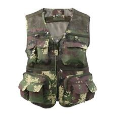 Fishing Vest Mesh Fishing Waistcoat Multi-pocket Hunting Photography Jacket