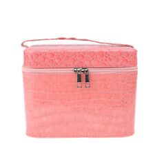PU Leather Cosmetic Train Vanity Case Makeup Toiletry Storage Box Jewellery Bag