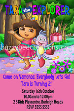 Dora the Explorer Personalised Birthday Invitations DIY Printing