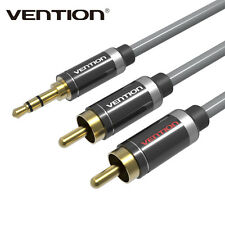 3.5mm Jack Plug to 2 RCA Stereo Jack Headphone Extension Cable Aux Audio Lead NB