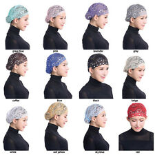 Muslim Inner Hat Lace Under Scarf Hijab Bonnet Cap Headwear Islamic Headwrap New