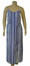 Lane Bryant Women's Vertical Stripes Plus Size Summer Dress with Belt New w/Tags