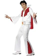 Rock Elvis Presley Red White Flare Rock And Roll 50's Fancy Dress Costume