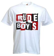 RUDE BOYS T-SHIRT - Ska 2 Tone Madness The Specials Reggae Skinhead Mod FREE P&P