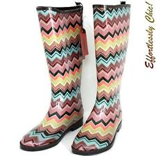 NWT MISSONI For Target ZIG ZAG Rain Boots SIZE 7- 7.5 COMPLETE SOLD OUT!