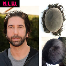 NLW 100% Real European Hair fashion straight men's toupee Hairpiece Replacement