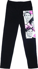 Girls One Direction Leggings white, Fluorescent pink, cerise ages 7 to 13 years