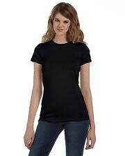 NEW Bella T-Shirt Ladies' Junior Fit Made in the USA 4.2 oz. S/S Tee Blank 6004U