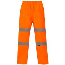 Supertouch Orange Hi High Vis Visibility Breathable PU Waterproof Trousers Pants