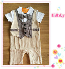Baby Boy Formal Summer One Piece Suit【FREE POSTAGE】New - Closing Down Sale