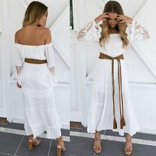 Women Boho Summer Long Maxi Dress Casual Evening Cocktail Party Beach Sundress
