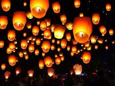 50X Chinese Paper Lanterns Sky Fire Fly Candle KongMing Lamp Wish Party Wedding