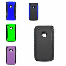 For Apple iPhone 3G/3GS Hard TPU Hybrid Plastic Case Cover
