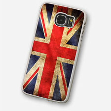 UNION JACK FLAG White Hard Phone Case Cover Fits Samsung (SWH)